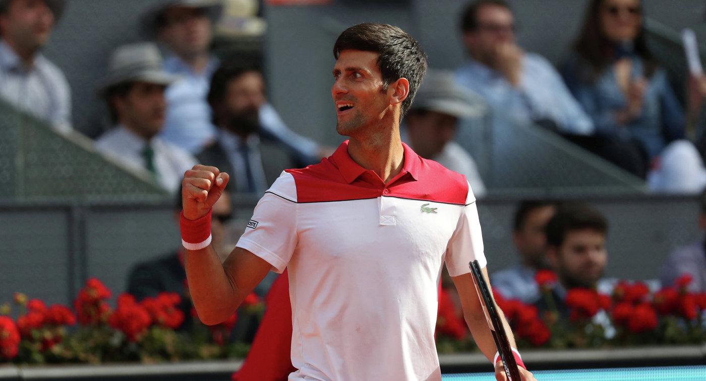 Джокович обыграл Нисикори на теннисном турнире в Мадриде