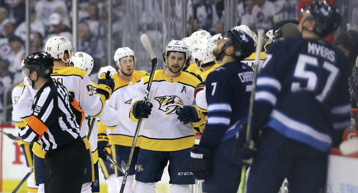 «Нэшвилл» сравнял счет вчетвертьфинальной серии плей-офф НХЛ с«Виннипегом»