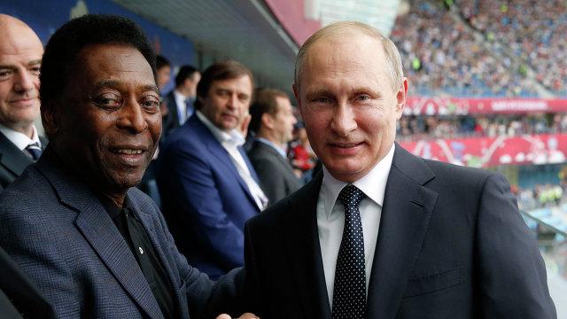 Владимир Путин и Пеле