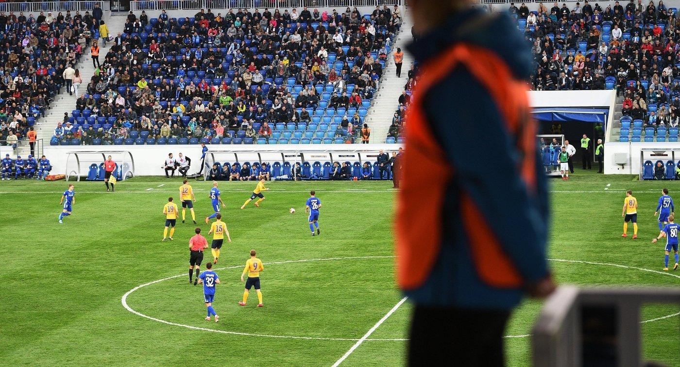 Первый официальный матч на стадионе Волгоград Арена