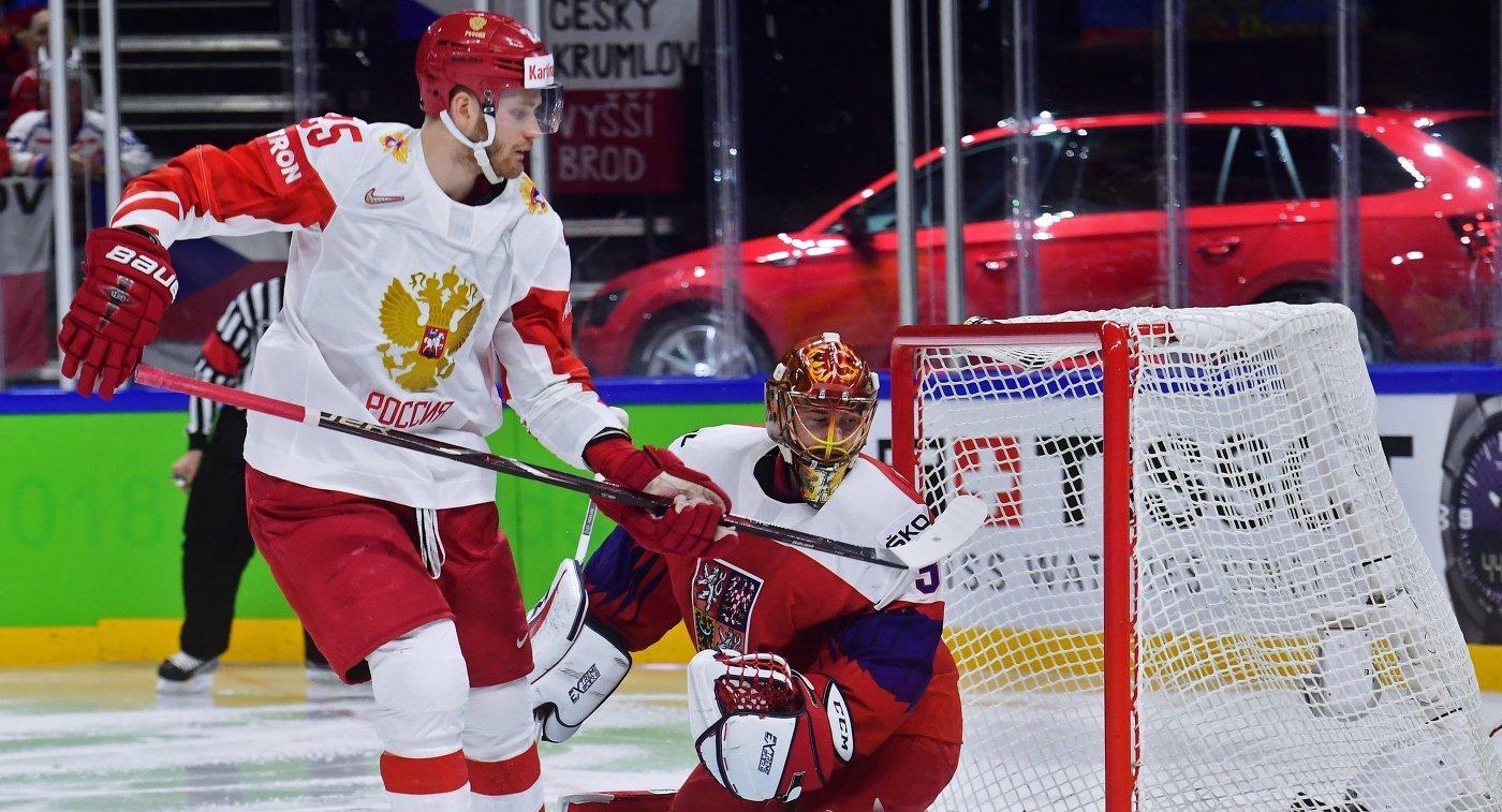 Каменский: возможно, российские хоккеисты выпали из тонуса перед игрой ЧМ с чехами