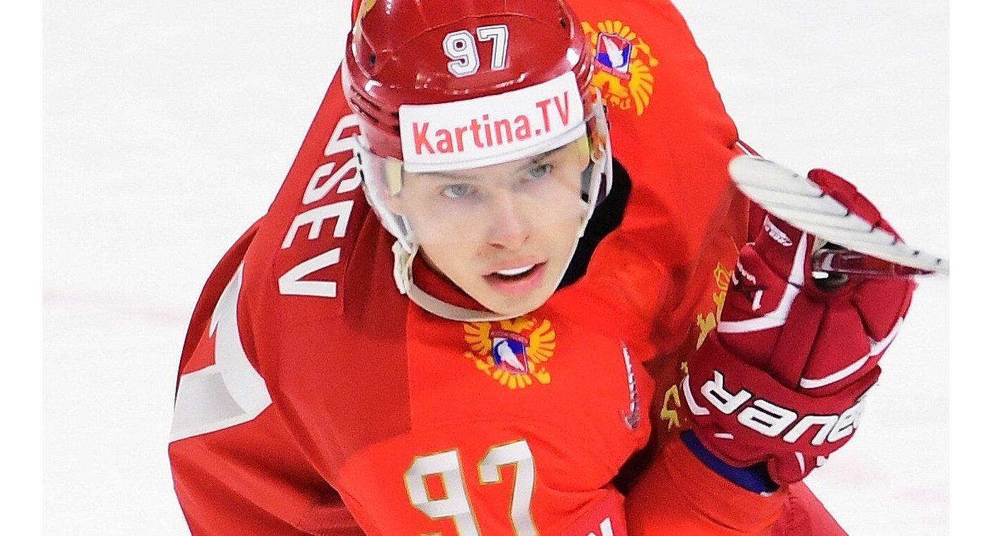 Форвард сборной России Никита Гусев