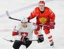 Форвард сборной России Никита Гусев (справа)