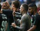 Футболисты Краснодара радуются забитому голу Павла Мамаева (в центре)