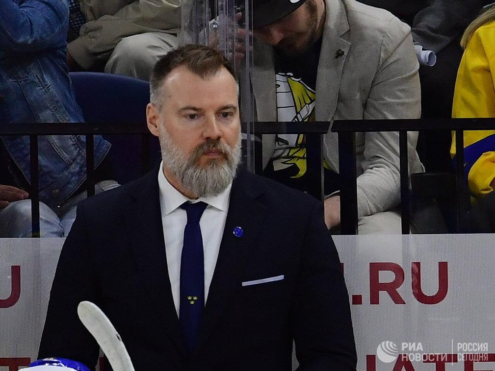 Главный тренер сборной Швеции Рикард Грёнборг