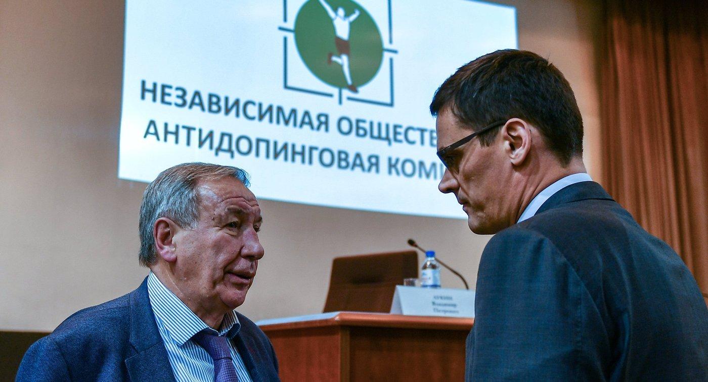 Шамиль Тарпищев (слева) и Александр Попов