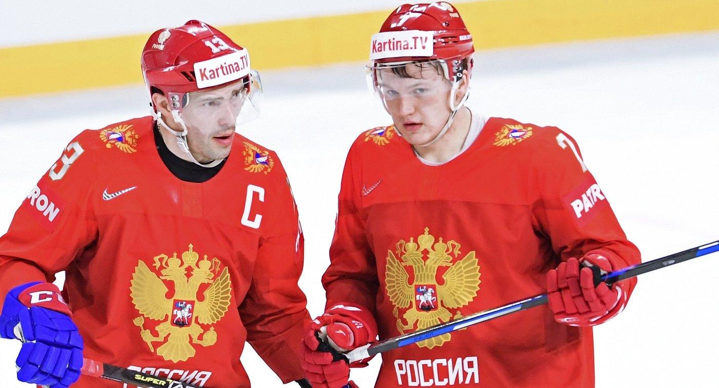 Игроки сборной России Павел Дацюк (слева) и Кирилл Капризов