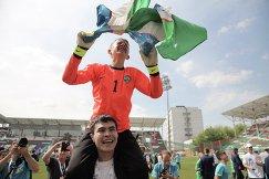 Вратарь сборной Узбекистана после победы в финальном матче