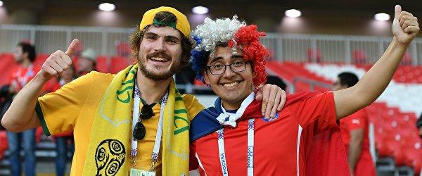 Болельщики сборных Австралии и Чили