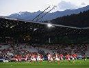 Футболисты сборной России и Австрии