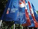Флаги, посвященные чемпионату мира по футболу ФИФА-2018