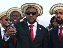 Футболисты сборной Панамы в аэропорту Саранска