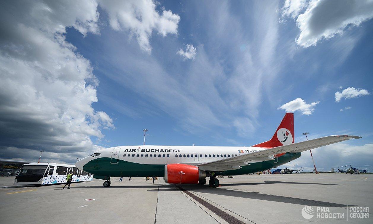 Самолет компании Air Bucharest, доставивший сборную Австралии