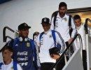 Футболисты сборной Аргентины вместе с Лионелем Месси