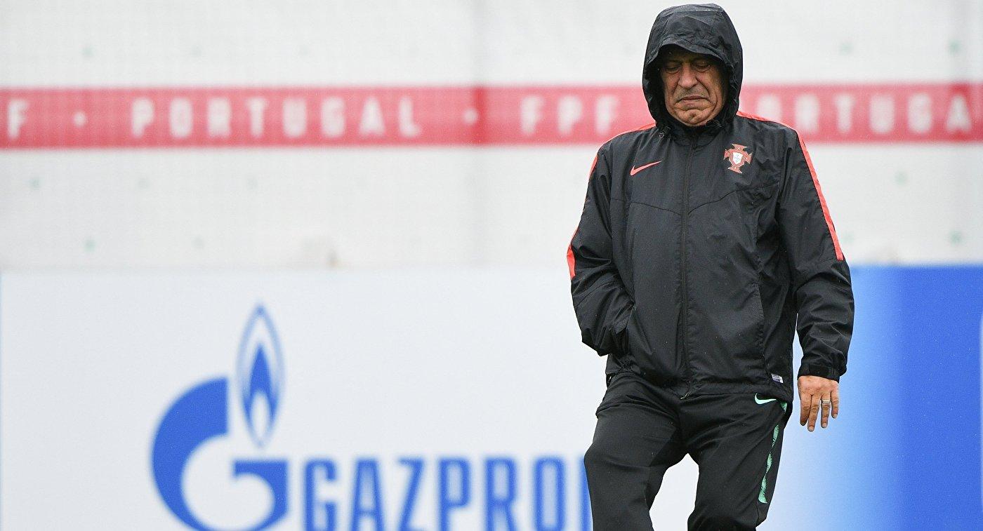Шикарный выстрел Начо вматче против сборной Португалии