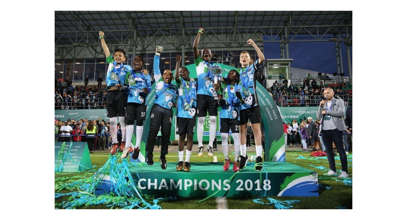 Chimpanzee, победители чемпионата мира по Футболу для дружбы