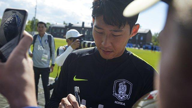 Форвард сборной Республики Корея Сон Хын Мин
