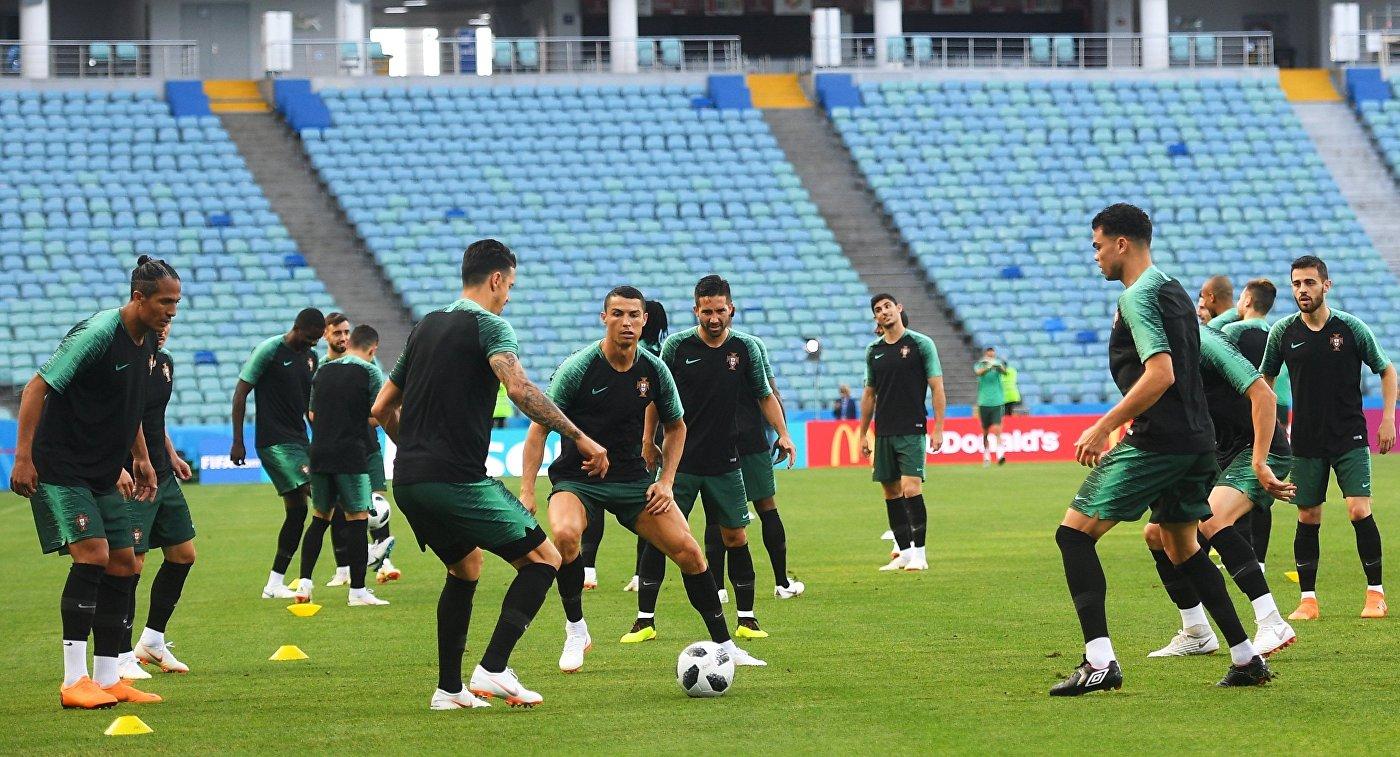 Футбол. ЧМ-2018. Тренировка сборной Португалии