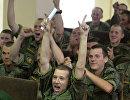 Военнослужащие в Воронеже во время просмотра матча ЧМ-2018