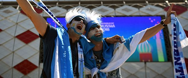 Болельщики сборной Аргентины