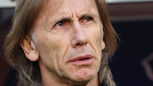 Главный тренер сборной Перу Рикардо Гарека