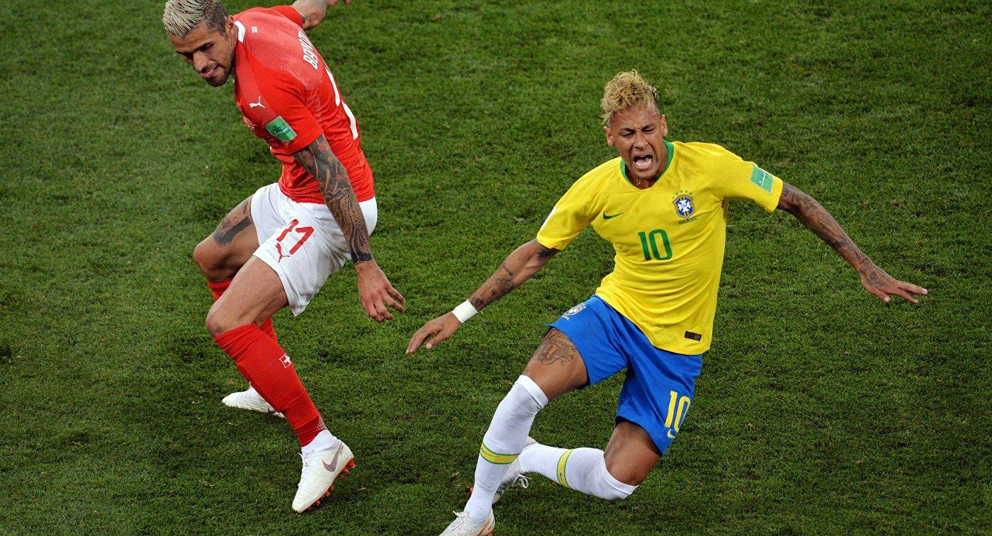 Неймар в матче ЧМ-2018 Бразилия - Швейцария