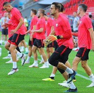 Тренировка сборной Польши