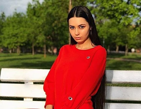 Российская модель Helga Lovekaty.