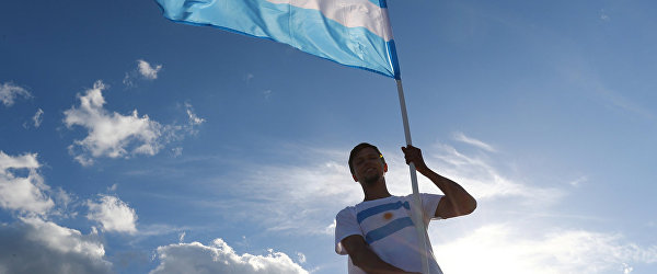 Болельщик сборной Аргентины