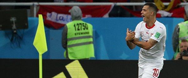 Полузащитник сборной Швейцарии Гранит Джака