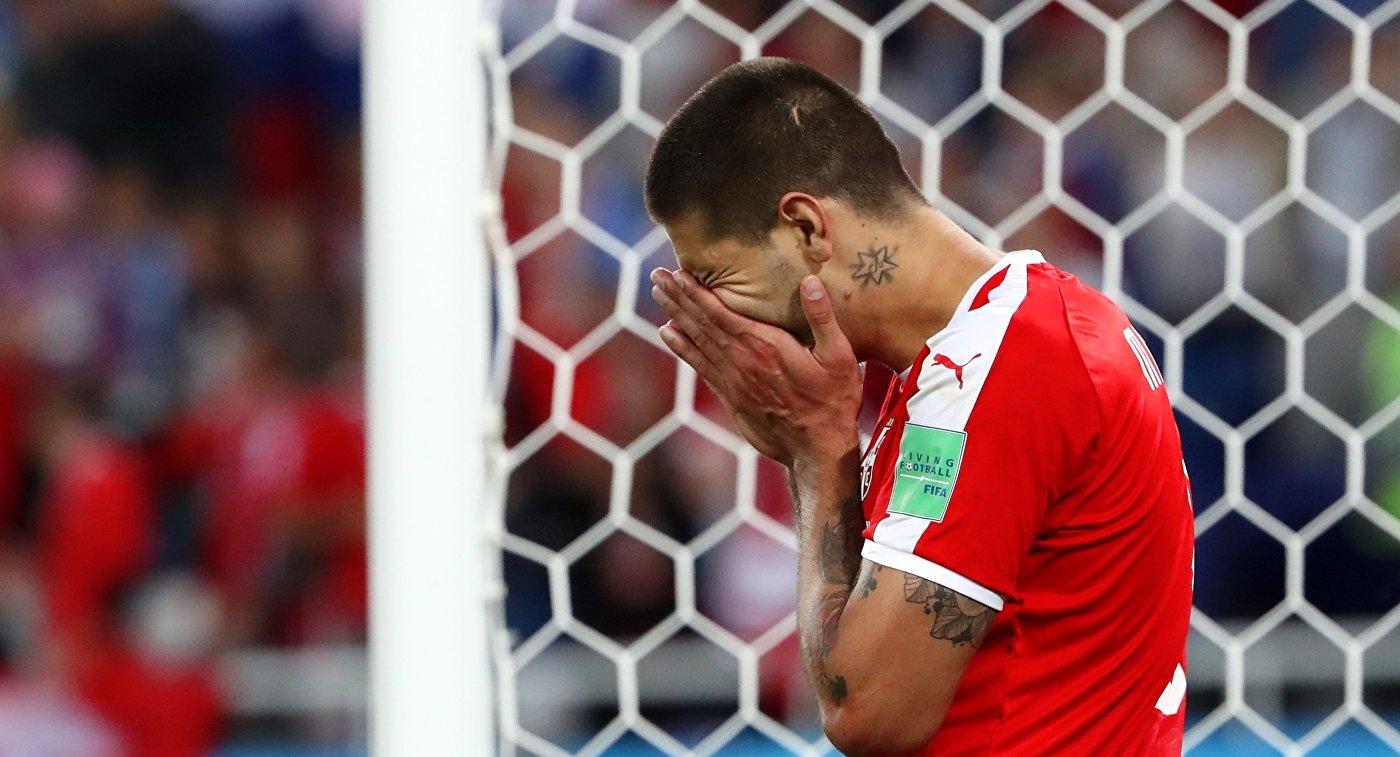 Форвард сборной Сербии Александар Митрович