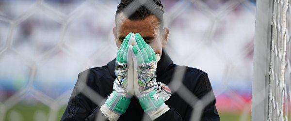 Вратарь сборной Египта Эссам аль-Хадари