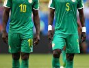 Футболисты сборной Сенегала Садио Мане и Идрисса Гуйе (слева направо)
