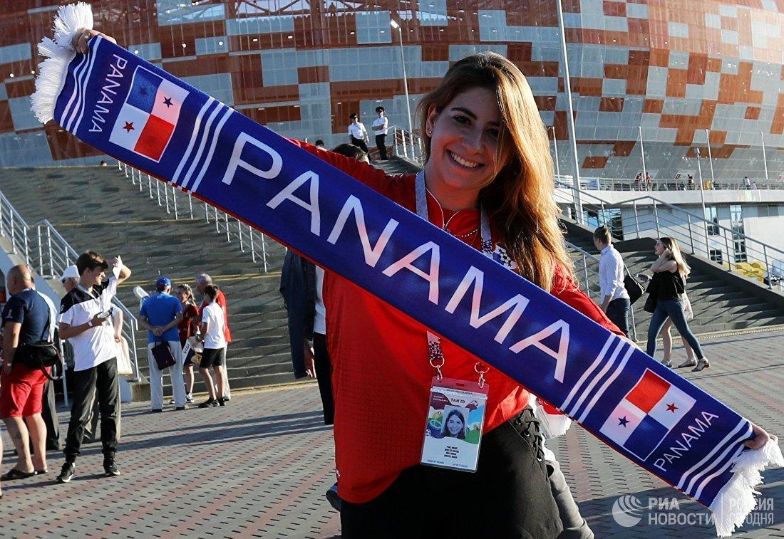 Болельщица сборной Панамы
