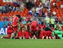 Футболисты сборной Панамы после окончания матча