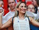 Болельщица перед матчем группового этапа чемпионата мира между сборными Бельгии и Туниса