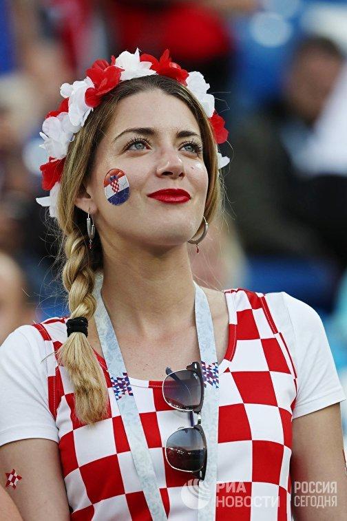 Болельщица сборной Хорватии