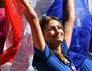 Болельщица сборной Франции