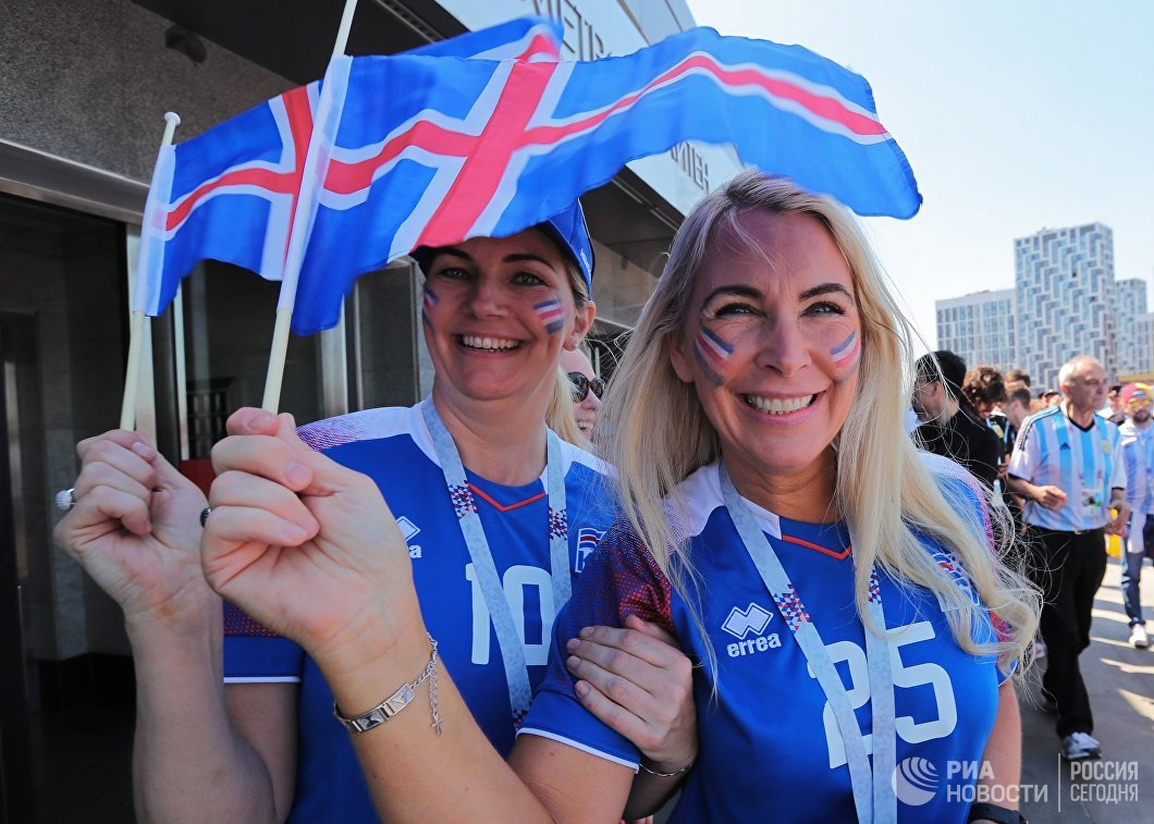 Болельщицы сборной Исландии