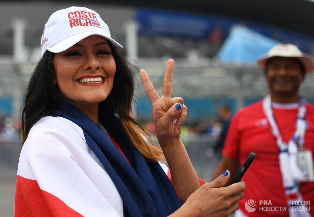 Болельщица сборной Коста-Рики