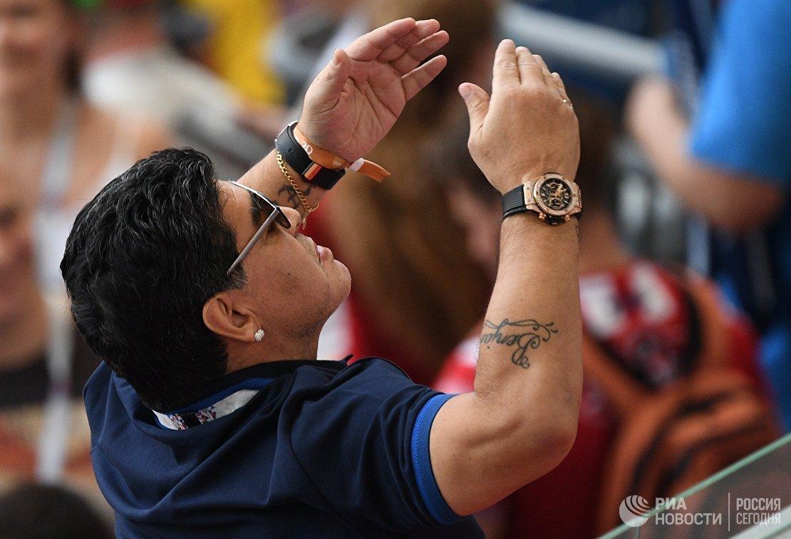 Бывший футболист Диего Марадона