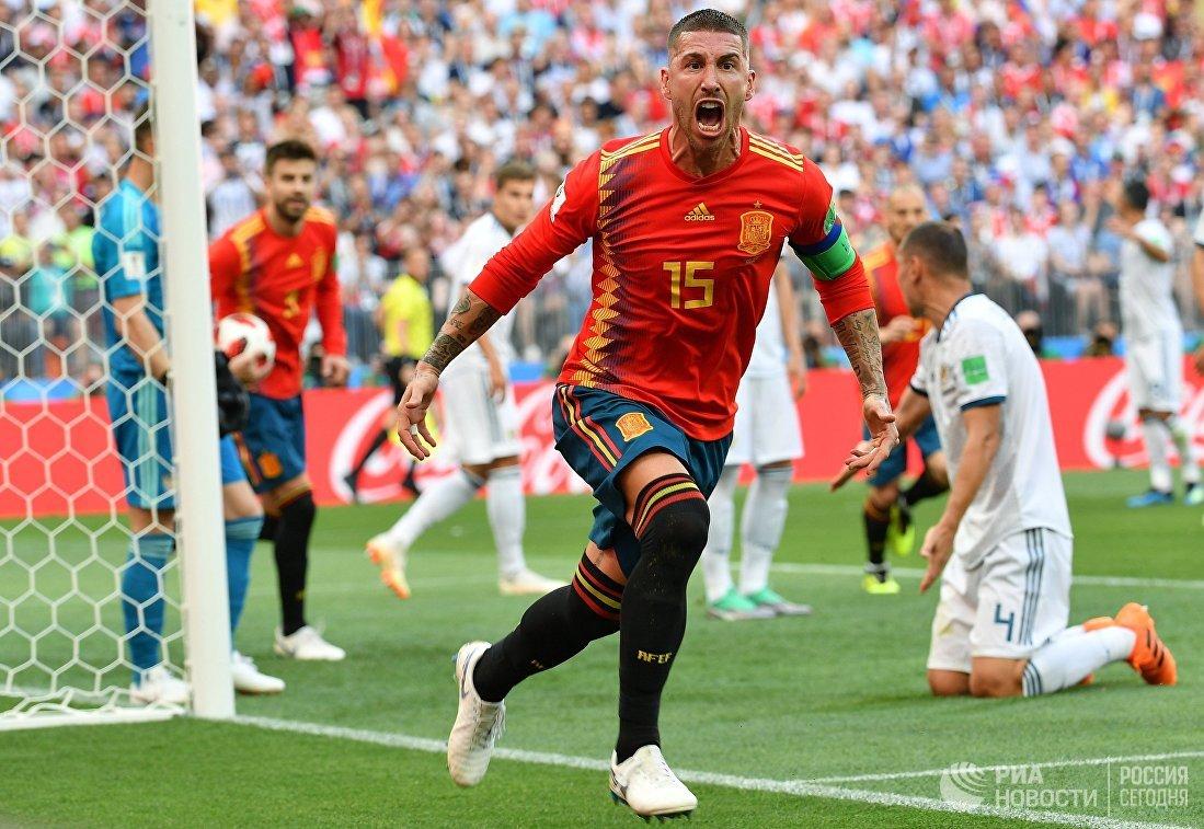 Защитник сборной Испании Серхио Рамос