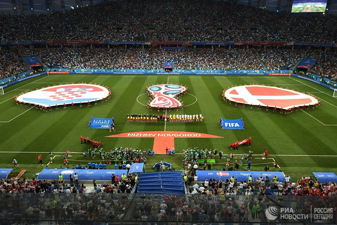 Футболисты сборной Хорватии и Дании