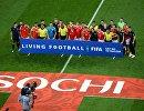 Футболисты сборных России и Хорватии