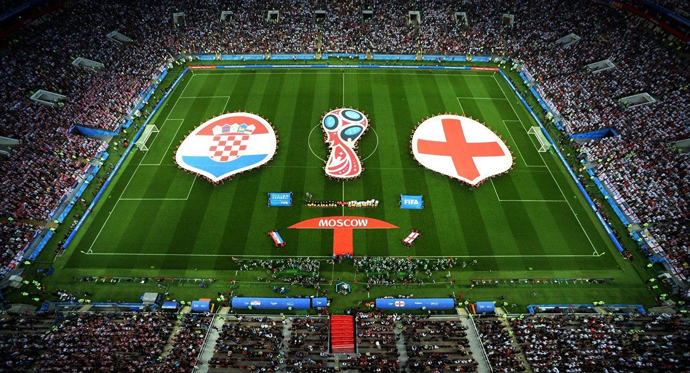 Футболисты сборных Хорватии и Англии