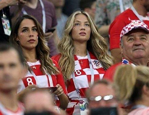 Болельщицы сборной Хорватии