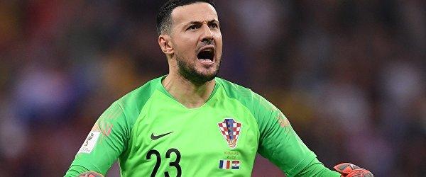 Вратарь сборной Хорватии Даниэль Субашич в финале ЧМ-2018