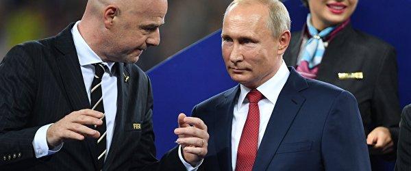 Владимир Путин на награждении победителей ЧМ-2018