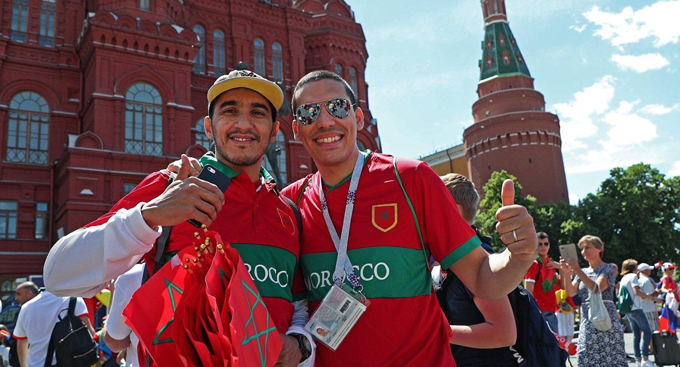 Болельщики на Манежной площади