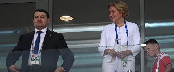 Помощник президента РФ Игорь Левитин и заместитель председателя правительства РФ Ольга Голодец